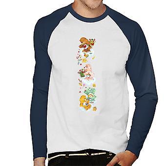 Care Bears Navidad Tenderheart Oso Candy Ducha Hombres's Béisbol camiseta de manga larga