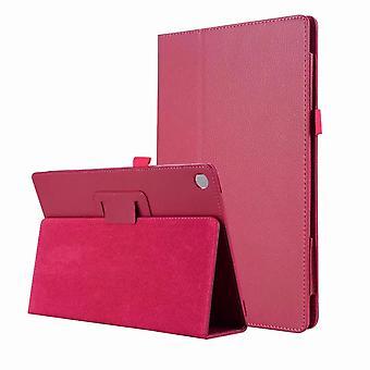 Pyörivä folio nahkakotelo Huawei MediaPad T5 10.1 punainen