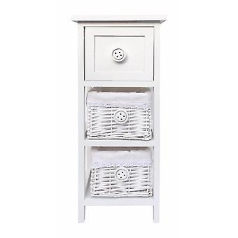 Narrow Slim  Kids Bedroom Bedside Table Cabinet (25x25x60cm)
