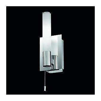 Verchromtes Badezimmer Wandleuchte 1 Glühbirne Höhe 23 Cm