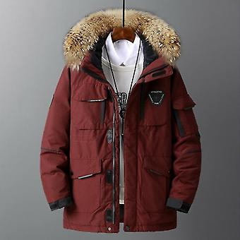 Large Size Loose Coat Men Winter Jacket Hooded Duck Down Male Windproof Parka