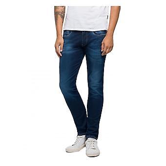Replay Jeans Replay Hyperflex Slim Fit Anbass Laserblast Jean - Medium Blue