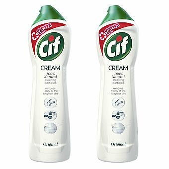 Cif 100% Natural Cleaning Particles Original Cream, 2 Pack of 500ml