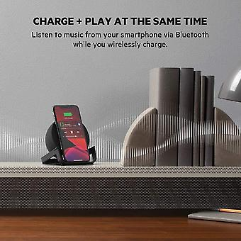 Belkin BoostCharge Wireless Charging Stand 10 W + Bluetooth Speaker,Built-in Microphone, Black)