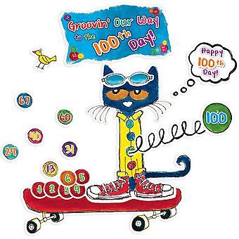 Pete die Katze 100 Groovy Tage der Schule Bulletin Board Set