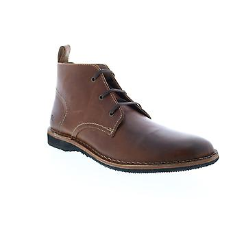Andrew Marc Dorchester Chukka  Mens Brown Leather Chukkas Boots