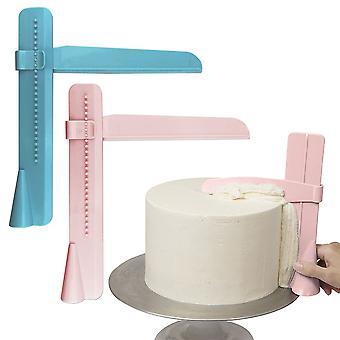 Kakku kaavin kätevä säädettävä kakku reuna sileämpi kerma koristelu DIY Leivonnaiset Astiat Keittiö Kakku Työkalu