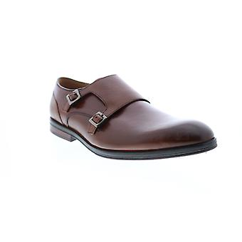 Clarks Citi Stride  Mens Brown Oxfords & Lace Ups Monk Strap Shoes