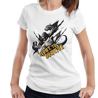 King Kong Vs T Rex Lucha para sobrevivir a las mujeres's Camiseta