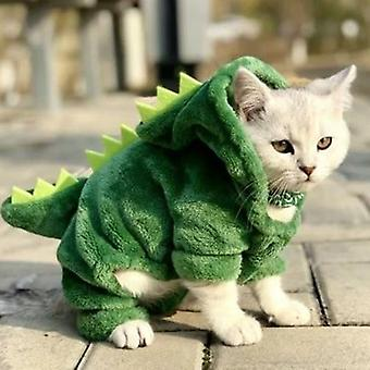 Pet Clothes- Dinosaur Winter Warm Coat