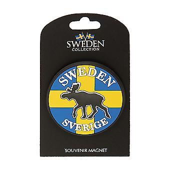 Magneetin matkamuistolippu Ruotsi Hirvi