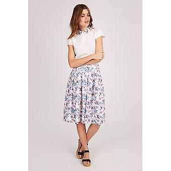 Louche Womens Joyous Ditsy Floral Luxe Skirt Multi