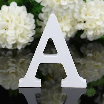 1pc Diy Freestanding Wooden Letters White Alphabet Wedding Birthday Party