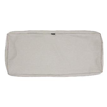 "Accesorios clásicos Montlake Fadesafe Patio Bench/Settee Cushion Slip Cover - 3"" Thick - Heather Grey, 59""W X 18""D X 3""T (60-269-011001-Rt)"