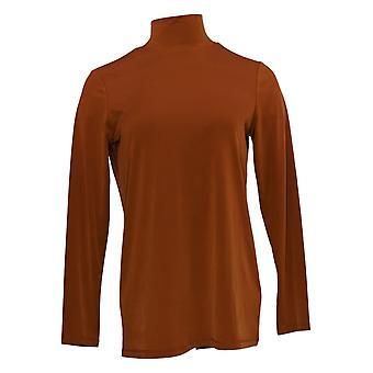 Susan Graver Kobiety&s Top Modern Essentials Tuniki Brown A369121