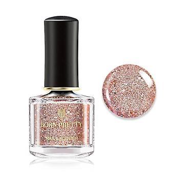 Nail Polish Pink Glittering Shimmer Laser Nail Art