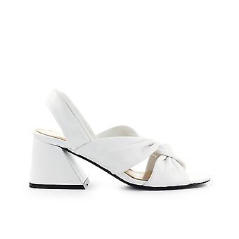 Strategia Linda White Nappa Half-heeled Sandal