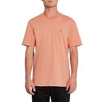 Volcom Hombres's Camiseta de algodón orgánico ~ Stone Blanks naranja