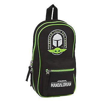 Backpack Pencil Case The Mandalorian Black Green
