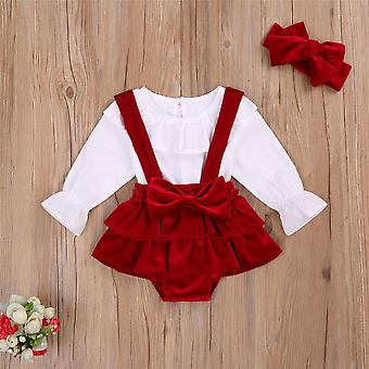 Christmas Infant Baby Clothes Set, Top Bow Shorts