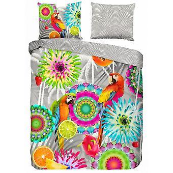 bed cover Kjenta 135 x 200 cm cotton/satin grey