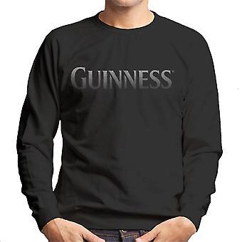 Guinness texto plata hombres's sudadera