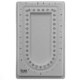 Beadsmith Mini Bead Board harmaa parvi - 4 x 6,75 tuumaa