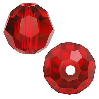 Swarovski Crystal, #5000 runda pärlor 8mm, 8 stycken, ljus siam