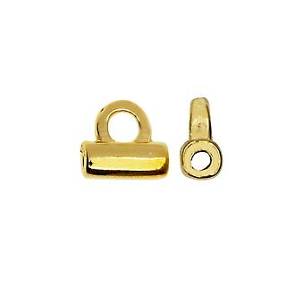 Cymbal Bead Endings fit Tila Beads, Soros, 4.5mm, 2 Piezas, 24kt Gold Plated
