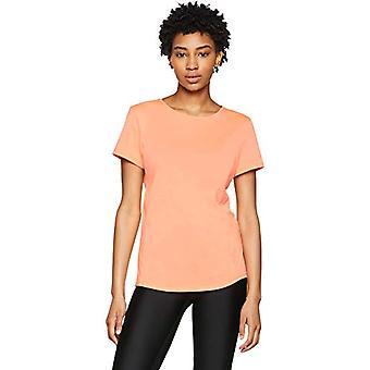 アンダーアーマー、スウィフト半袖、Tシャツ、女性、オレンジ(バーン/アフターバーン/反射)、L