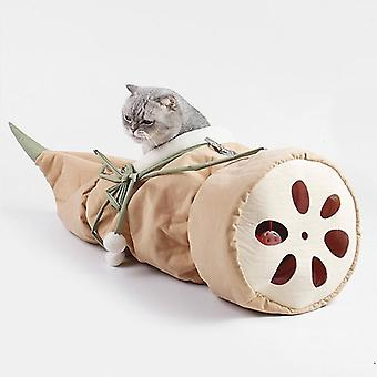Lotus Designed Interactive Cat Tunnel Cute Cat Toy Pet Tube Collapsible Kitten Rabbit Play Tubes