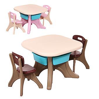 Moni groupe de siège enfant 18109 Confort, table, 2 chaises, à partir de 3 ans, à l'intérieur, à l'extérieur