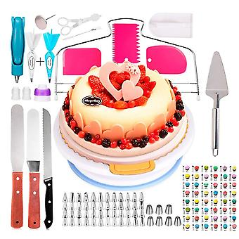 124 Pieces stainless steel icing piping nozzles, flower cream pastry and cake decorating tools