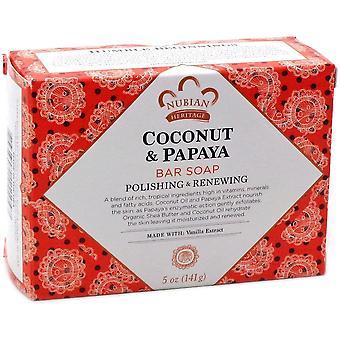 Nubian Coconut & Papaya Soap