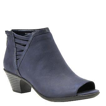 Easy Street Women's Paris Ankle Boot Navy sup sd/tx 7 W US