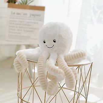 60Cm valkoinen söpö pieni mustekala muhkea nukkemiling mustekala nukkelapset dollrag nukke x4498