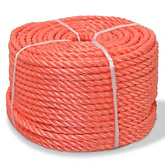 vidaXL polypropeeniköysi 6 mm 500 m Oranssi