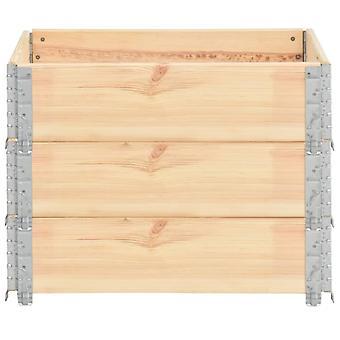 vidaXL Pallet top frame 3 pcs. 60×80 cm solid pine wood