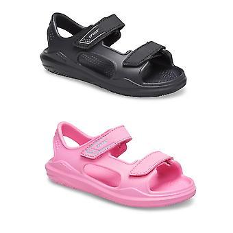 Unisex Kids Crocs Swiftwater Expedition Sandal Hook & Loop Closure Kesäloma Slip-on Sandaalit