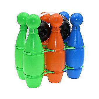 Multi-colour Plastic Bowling Set  Multi