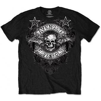 Avenged Sevenfold Stars Flourish Mens Black T-Shirt: Medium