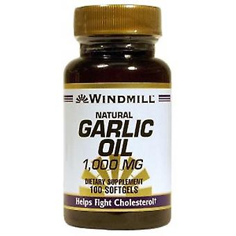 Windmill Health Natural Garlic Oil, 1000 mg, 100 Softgels