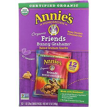 Annie's Homegrown Crckr Bnny Frnd Snk Pk 12, Case of 4 X 12 Oz