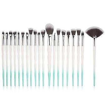 White and blue 25x15x2.5cm cosmetic brush 20 pieces colorful one set homi2604
