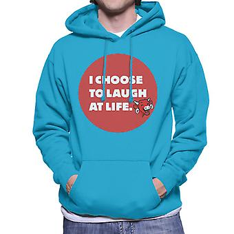 The Laughing Cow I Choose To Laugh At Life Men's Hooded Sweatshirt