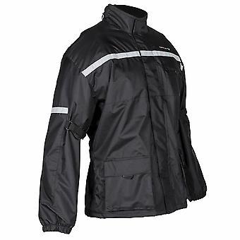 Spada Aqua Textile Motorradjacke schwarz wasserdicht Hi-Vis Winter