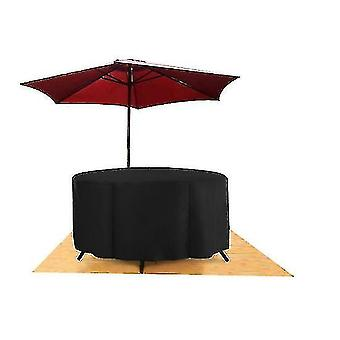 Round Furniture Cover Dustproof And Waterproof Oxford Cloth Garden Round Table Cover(225* 95cm)