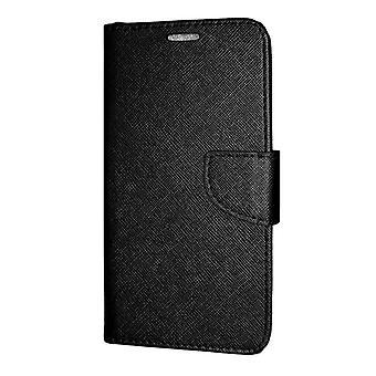 iPhone 12/12 Pro LompakkoKotelo Fancy Case + Kihlajaishihna Musta