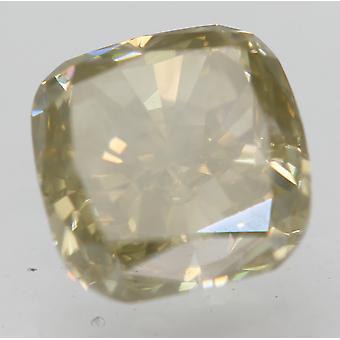Varmenne 1,04 karat vaaleankeltainen VS1-tyyny Natural Loose Diamond 5.44x5.37mm 2VG