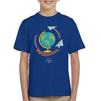 Blippi Travel The World Woooooo Kid's T-Shirt
